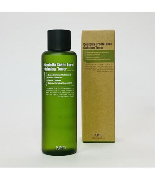 Успокаивающий тонер с центеллой для чувствительной кожи - Purito Centella Green Level Calming Toner, 200 мл