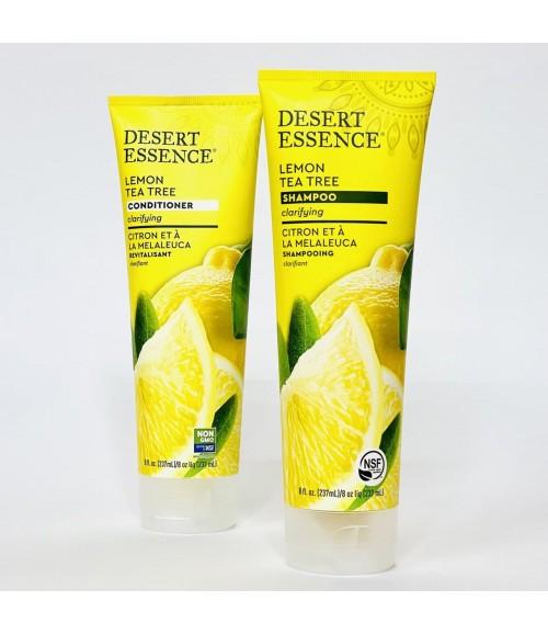 Шампунь для жирных волос - Desert Essence Lemon Tea Tree Shampoo, 237 мл