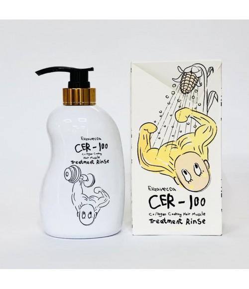 Питательный бальзам-ополаскиватель для волос - Elizavecса Cer-100 Collagen Coating Hair, 500 мл