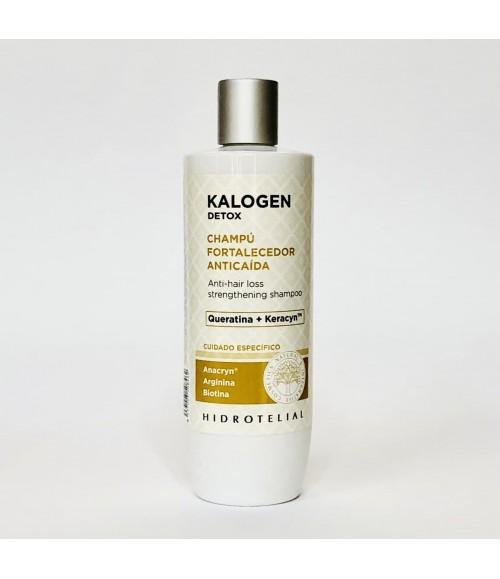 Шампунь против выпадения волос - Hidrotelial Kalogen Detox Champu Fortalecedor Anticaida, 400 мл
