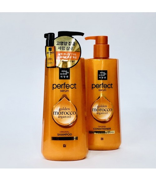 Восстанавливающий шампунь для волос - Mise En Scene Perfect Serum Shampoo, 680 мл