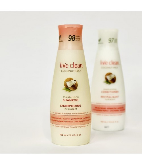 Экстраувлажняющий шампунь - Live Clean Coconut Milk Moisturizing Shampoo, 350 мл